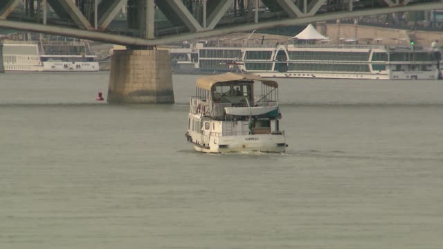 tourist ship on danube - passenger craft stock videos & royalty-free footage