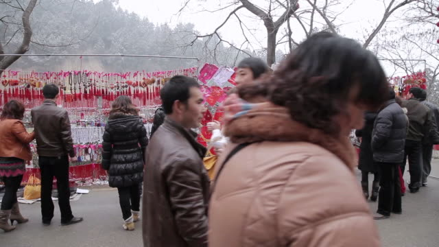MS Tourist souvenirs for selling in temple fair during chinese spring festival / tongchuan, shaanxi, china