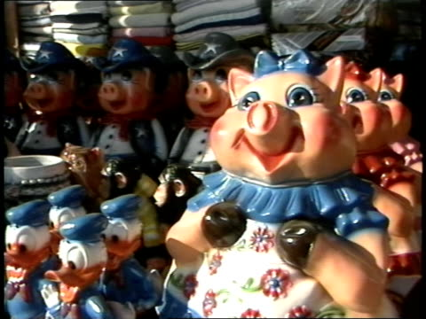 tourist tchotchkes in tijuana, mexico - hooved animal stock videos & royalty-free footage