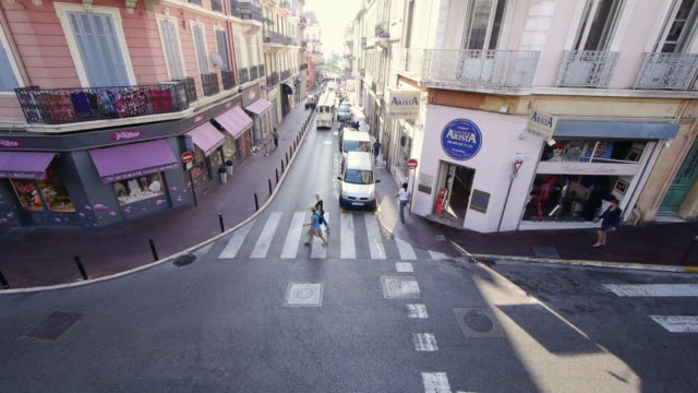 tl tourist train in cannes, france - tourist train stock videos and b-roll footage
