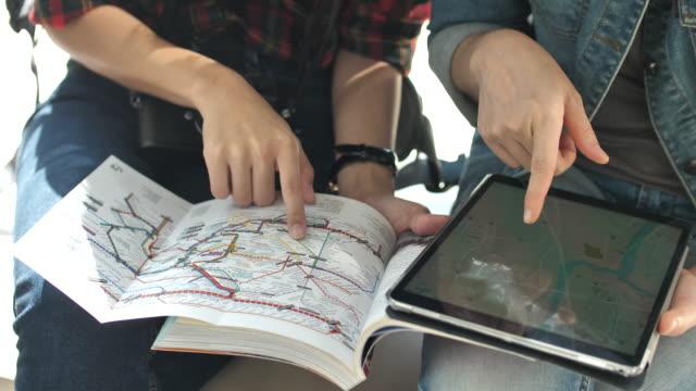 Tourist Using Digital tablet
