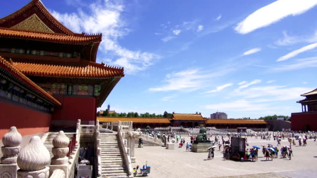 tourist visit the forbidden city - pechino video stock e b–roll