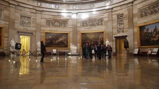 tourist visit the us capitol rotunda on november 04, 2014 in washington, dc. - rotunda stock videos & royalty-free footage