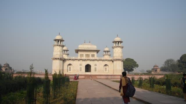 Tourist visit to Tomb of I'tmad-ud-Daulah, Agra, India.