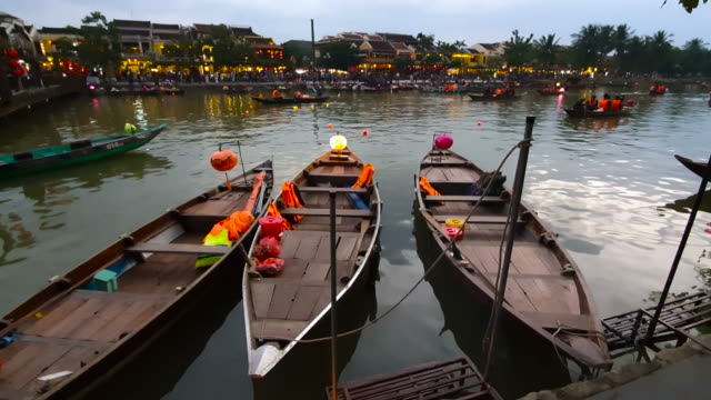 tourist walking in hoi an ancient town - old town stock videos & royalty-free footage