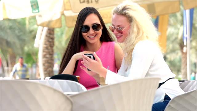 Tourist women enjoying day out in Dubai