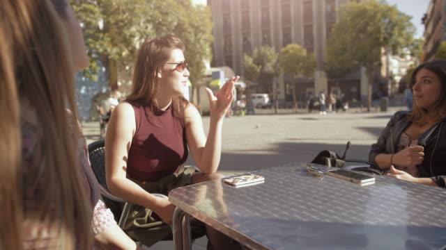 Tourist women in Madrid, Spain