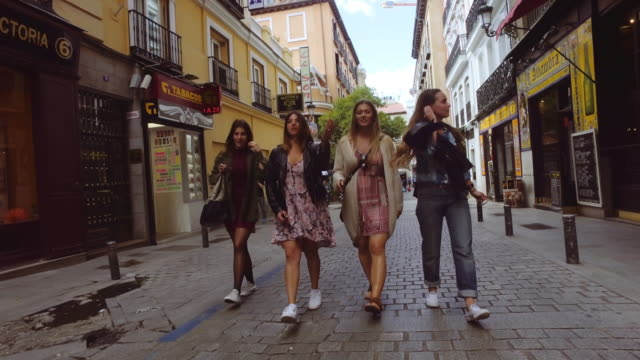 tourist women in madrid, spain - madrid stock videos and b-roll footage