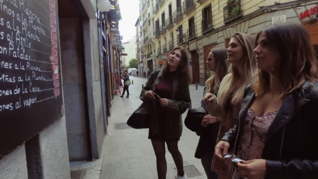 Tourist women in Madrid
