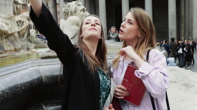 tourist women in rome - tourist stock videos & royalty-free footage