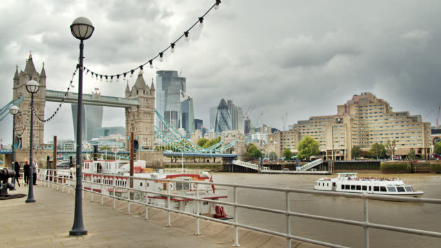 touristic ferries. tower bridge. london. thames river. footpath. - directional sign stock videos & royalty-free footage