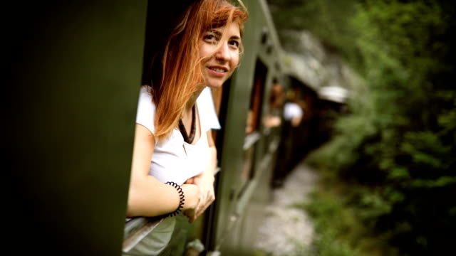 touristic train ride - redhead stock videos & royalty-free footage