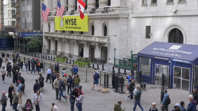 nyse, tourists and people walking dog. - canada flag stock videos & royalty-free footage