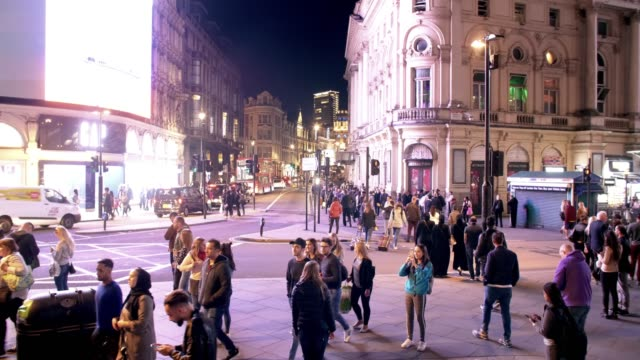 tourists assembling in london piccadilly circus - composition stock videos & royalty-free footage