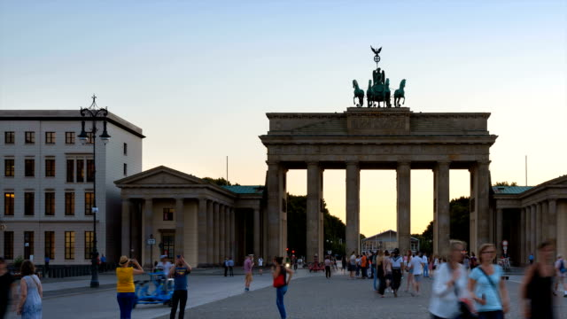 Tourists at Brandenburg Gate
