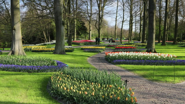 Tourists at Keukenhof Gardens, Lisse, South Holland, Netherlands, Europe