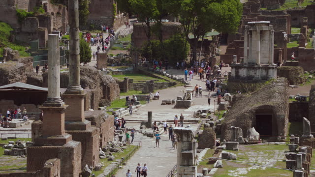 MS Tourists at Roman Forum / Rome, Italy