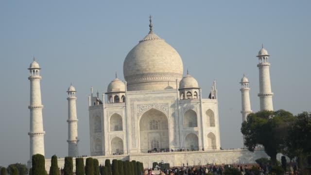 Tourists at Taj Mahal, Agra, India.