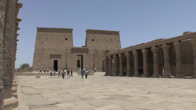 WS PAN Tourists at Temple of Philae, Agilka Island, Aswan, Egypt