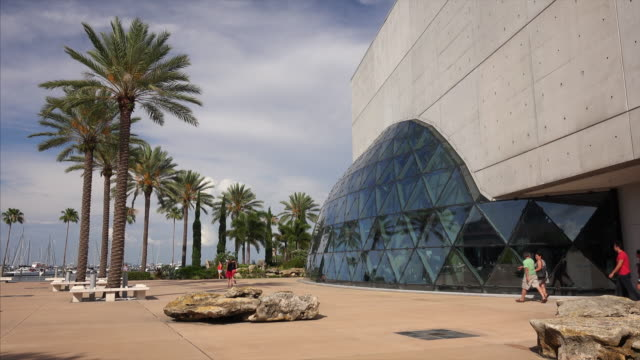 Tourists at the Salvador Dali Museum in St Petersburg, Florida