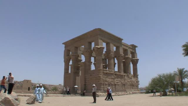 WS Tourists at Trajan's Kiosk, Aswan, Egypt