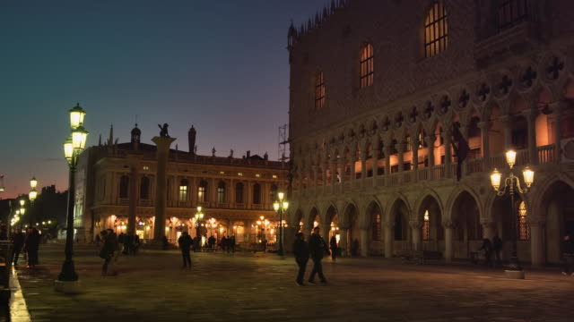 ws - tourists by the doge's palace - museum stock videos & royalty-free footage