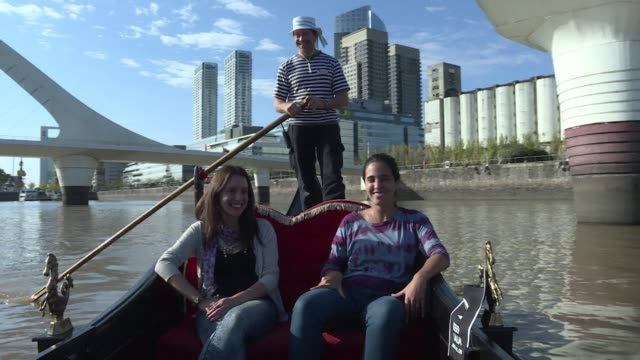Tourists can now take a tour on Venetian gondolas in Buenos Aires A new company offers tours for locals or tourists in Puerto Madero a recently...