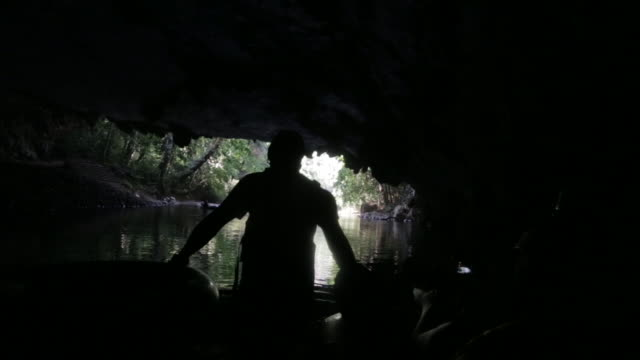 tourists cave tube on the caves branch river in belize - rubber ring stock videos & royalty-free footage
