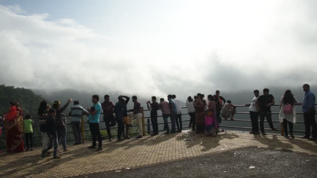 tourists enjoying nature at view points, chikhaldara, maharashtra, india. - hill stock videos & royalty-free footage