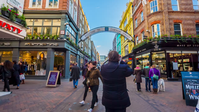 Tourists in Carnaby Street in Londo.