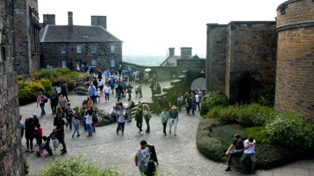 Tourists in Edinburgh Castle, scotland