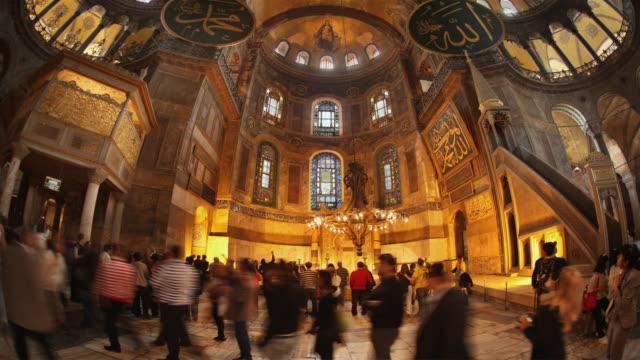 T/L MS LA Tourists in Hagia Sophia, Istanbul, Turkey