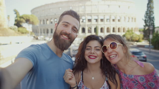 Tourists in Rome together