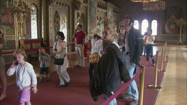 MS PAN Tourists in Singer's Hall in Neuschwanstein Castle, Bavaria, Germany