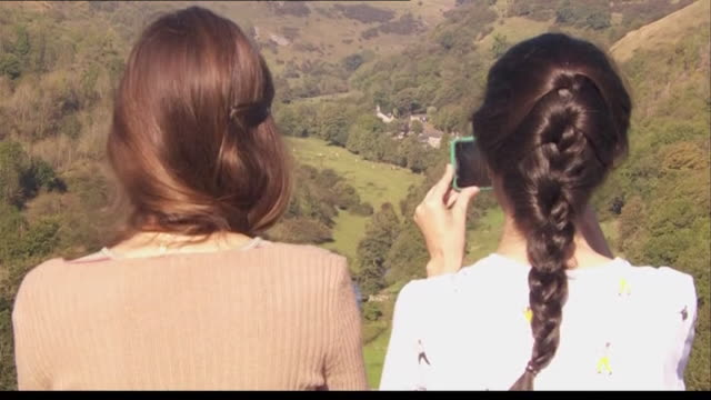 tourists in the peak district - house stock videos & royalty-free footage