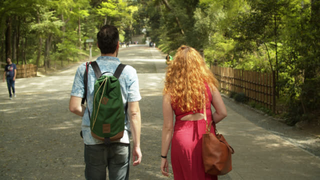 tourists in yoyogi park - curly stock videos & royalty-free footage
