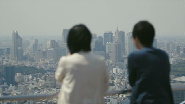 観光客ので、東京の街並み
