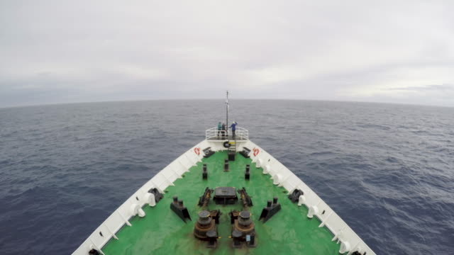 tourists on a vessel crossing the drake passage - drake passage stock videos and b-roll footage