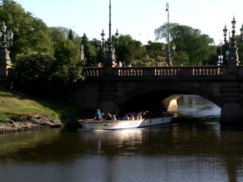 Tourists on sightseeing trip Gothenburg Sweden.