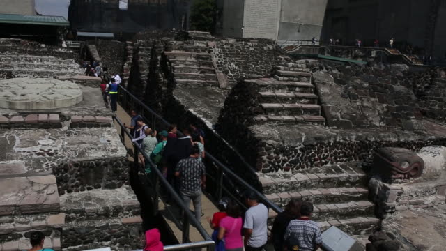 tourists on streets in mexico city mexico on monday august 27 2018 - latin american civilizations stock videos and b-roll footage