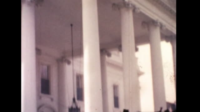 1961 tourists on white house lawn - 1961 stock videos & royalty-free footage