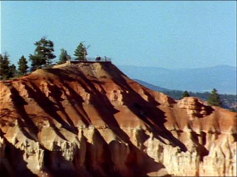 tourists overlook the hoodoos of bryce canyon. - national park stock videos & royalty-free footage