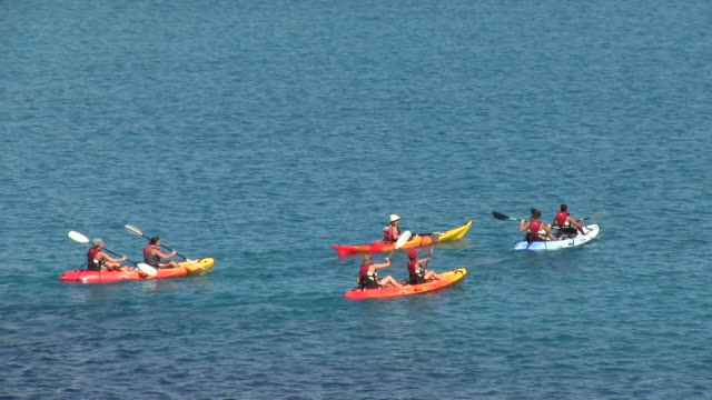 MS PAN Tourists paddling at Cala San Vicent / Mallorca, Balearic Islands, Spain