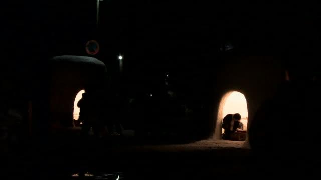 tourists visit kamakura snow huts in akita. - igloo stock videos & royalty-free footage