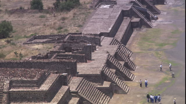 Tourists visit Teotihuacan, Mexico.