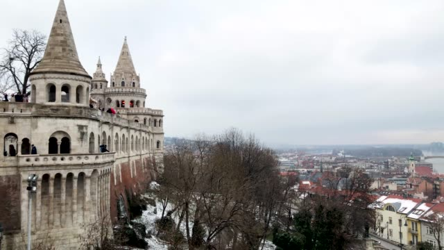 tourists visit the fisherman's bastion on january 20 2019 in budapest hungary over the past months thousands of hungarians have turned out in the... - 2010 2019 stock videos & royalty-free footage