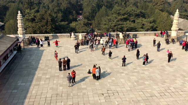 Tourists visit the Summer Palace on March 4 2017 in Beijing China