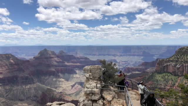 tourists visiting grand canyon national park usa - grand canyon stock videos & royalty-free footage