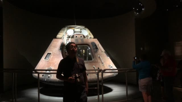 tourists visiting nasa space center - space shuttle stock videos & royalty-free footage