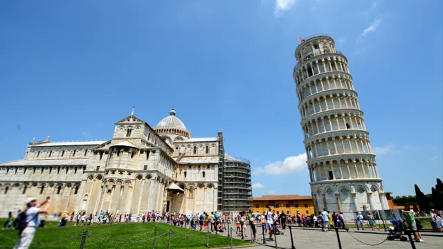 Tourists visiting Pisa in Italy